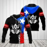 Customize Puerto Rico Flag Coqui - Black All Over Print Hoodies