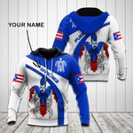 Customize Puerto Rico Flag Turtle All Over Print Shirts
