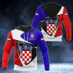 Customize Croatia Coat Of Arms - Flag Color Version All Over Print Hoodies