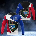 Customize Cuba Coat Of Arms - Flag Color Version All Over Print Hoodies