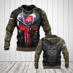 Customize Slovakia Coat Of Arms Flag 3D Armor All Over Print Hoodies