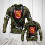 Customize Finland Coat Of Arms Camo New Form All Over Print Hoodies
