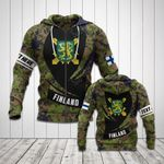 Customize Finnish Army Symbol Camo New Form All Over Print Hoodies