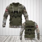 Customize Latvia Coat Of Arms Army Camo All Over Print Hoodies