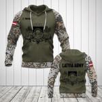 Customize Latvia Coat Of Arms Camo All Over Print Hoodies