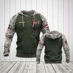 Customize Latvia Coat Of Arms Flag Camo All Over Print Hoodies