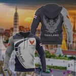Customize Thailand Coat Of Arms Sport Style All Over Print Hoodies