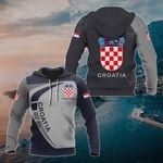 Customize Croatia Coat Of Arms Sport Style All Over Print Hoodies