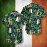 Irish Hawaii Pattern Short Sleeve Linen Button Down Shirt