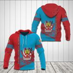 DR Congo Coat Of Arms 3D Special All Over Print Shirts