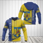Romania Coat Of Arms 3D Special All Over Print Shirts