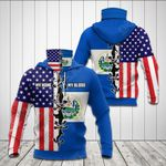 America My Home El Salvador My Blood Flag 3D All Over Print Neck Gaiter Hoodie