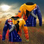 Australia Anzac Day Lest We Forget Flag All Over Print Shirts