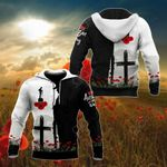 ANZAC Day Black And White All Over Print Shirts