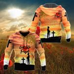 Australian Army ANZAC Day Lest We Forget Sunset All Over Print Shirts