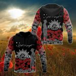 Australian Army Symbol ANZAC Day Lest We Forget Poppy All Over Print Shirts
