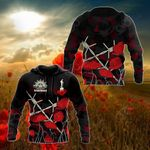 ANZAC Day Poppy Barbed Wire All Over Print Shirts