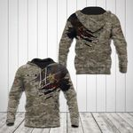 Customize British Army Symbol Camo 3D All Over Print Hoodies
