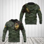Customize Spanish Army Symbol Camo 3D All Over Print Hoodies
