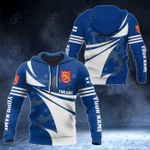 Customize Finland Flag Color New Style 3D Print All Over Print Hoodies