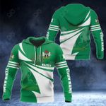 Customize Nigeria Flag Color New Style 3D Print All Over Print Hoodies