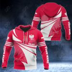 Customize Poland Flag Color New Style 3D Print All Over Print Hoodies