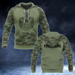 Customize Serbia Coat Of Arms And Camo New Style All Over Print Hoodies