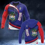Belize Coat Of Arms Pround Coat Of Arms All Over Print Hoodies