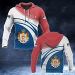 Serbia Coat Of Arms Version 4 All Over Print Hoodies
