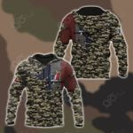 Customize French Army Symbol Camo 3D All Over Print Hoodies