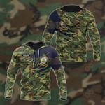 Customize Honduras Coat Of Arms Camo 3D All Over Print Hoodies