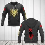 Albania Coat Of Arms Gold All Over Print Hoodies