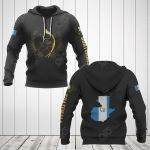 Guatemala Coat Of Arms Gold All Over Print Hoodies
