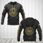 French Polynesia Coat Of Arms Gold All Over Print Hoodies