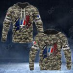 Customize French Army Flag Camo All Over Print Hoodies