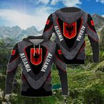 Albania Coat Of Arms 3D Armor All Over Print Shirts