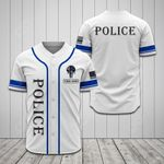 Customize Police - White All Over Print Baseball Jersey Shirt