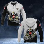 Customize Austria Coat Of Arms Black And White All Over Print Hoodies
