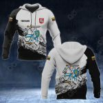 Customize Lithuania Coat Of Arms Black And White All Over Print Hoodies