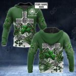 Customize Ireland - Celtic Shamrock And Cross All Over Print Hoodies
