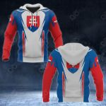 Slovakia Coat Of Arms - Flag 3D All Over Print Hoodies
