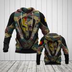 Customize Belgium Army Camo Spartan 3D All Over Print Hoodies