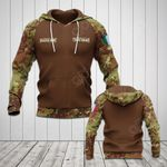 Customize Italian Army Camo - Brown All Over Print Hoodies