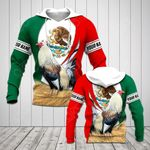 Customize Mexico Rooster Flag 3D New Form All Over Print Hoodies
