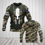 Customize France Flag Spartan Camo All Over Print Hoodies