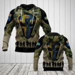 Customize Swedish Army Camo Skull 3D All Over Print Hoodies