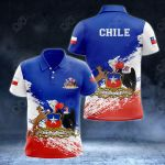 Chile Coat Of Arms - New Version All Over Print Polo Shirt