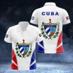 Cuba Coat Of Arms And Flag - New Version All Over Print Polo Shirt