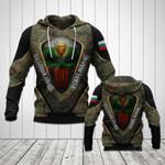 Customize Bulgarian Armed Camo Skull 3D All Over Print Hoodies