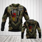 Customize Germany Flag Camo Skull 3D All Over Print Hoodies
